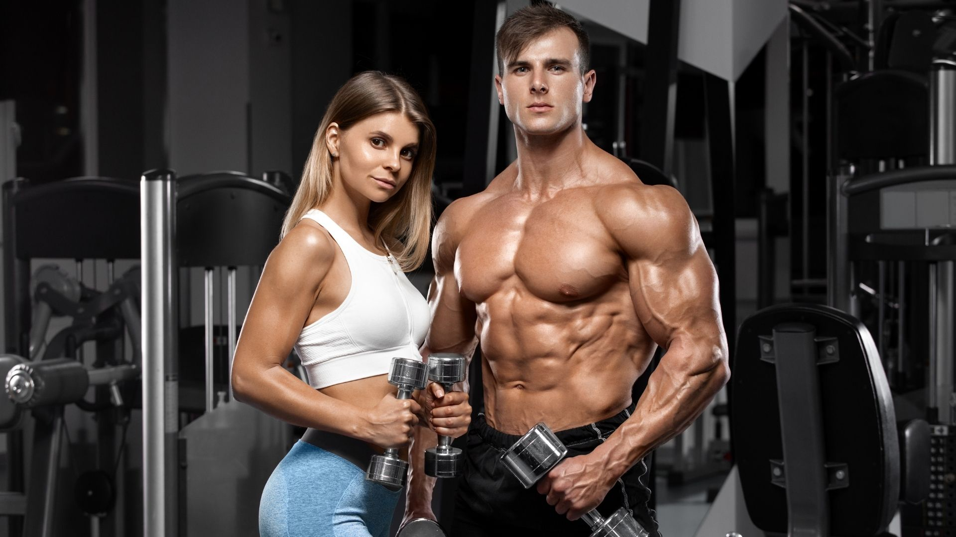 Body building couple joining rypt